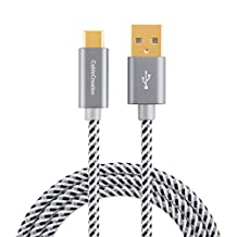 USB Type C Cable, CableCreation 10ft Braided Type C (USB-C) to standard USB A Cable for Nexus 6P,OnePlus,Nexus 5X,LG G5,the New Macbook 12 inches, Google ChromeBook Pixel, Lumia 950/950XL & More,3M /Gray[New Version 56K Ohm Resistance]