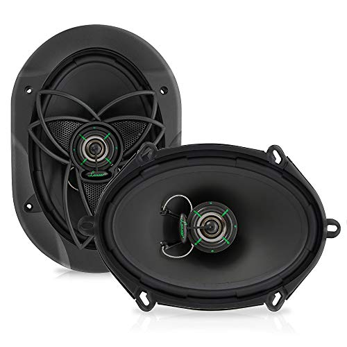 "Lanzar Upgraded VX 6.8"" Pair of 2 Way Car Speaker - Powerful 180 Watts 30 Oz Magnet Structure 4 Ohms 54 - 22KHz Frequency Response w/ 1"" High Temperature Voice ()"