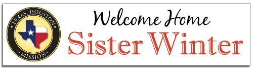Welcome Home, LDS Missionary Custom Banner by Partyland, Inc