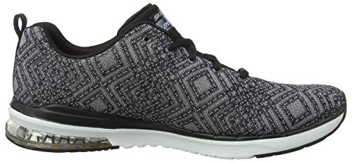 black Infinity Donna Skechers Sneaker Aglow air Nero white Skech Bkw all 8w1wfTq