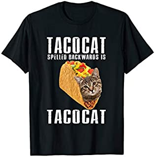 Tacocat Spelled Backwards is Tacocat Funny Cat Lovers Gift T-shirt | Size S - 5XL