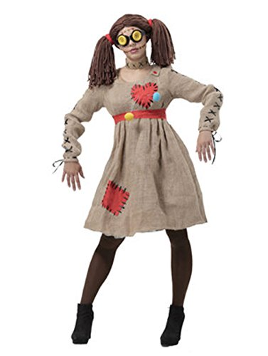 Costume Male Voodoo Doll (Zhongkeyi Halloween Adult Stage Performance Costume the Linen Scarecrow Voodoo)