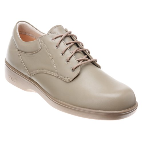 Aetrex Women's Ambulator Conform Oxford Pedorthic Shoes,Taupe Smooth Leather,9 W (Ambulator Conform Shoe)