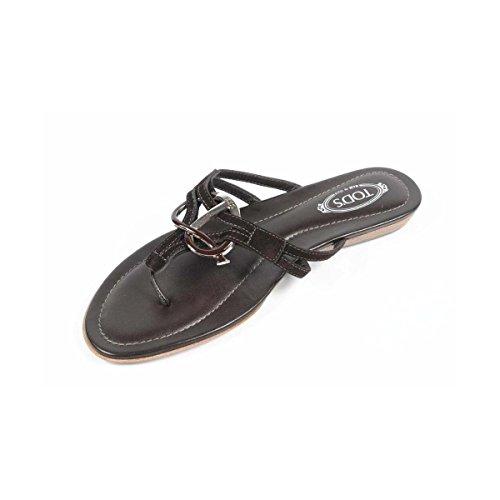 Tods Damene Flat Sandal Xxw0ii07811hr0s800 Mørk Brun ...