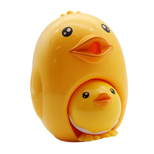 Sipliv Manual Pencil Sharpener Hand-Cranking Combination Mother Chick and Baby Chick Pencil Sharpener for Students School, Home, Office, Studio - Yellow