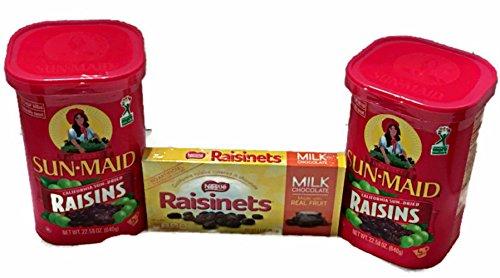 Sun Maid California Raisins, 22.58oz (Pack of Two) with FREE Chocolate Covered Raisinettes California Chocolate Raisins