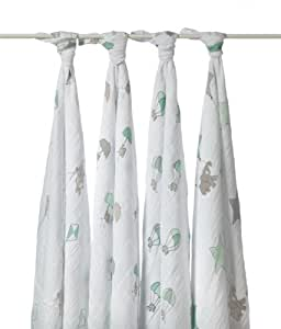 aden + anais 2037F classic swaddle, up, up & away (pack of 4)