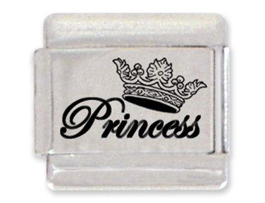 - Princess Laser Italian Charm Bracelet Link