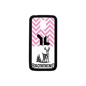Powerful Protection Case[Multicolor Color Mix Design] (Black and White),Browning Pattern Hybrid Hard Soft Durable Plastic and TPU Case Armor Case Back Cover Case for Samsung Galaxy S5 mini