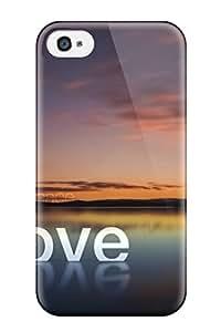 Hot Design Premium Tpu Case Cover Iphone 4/4s Protection Case(love Peace Hope)
