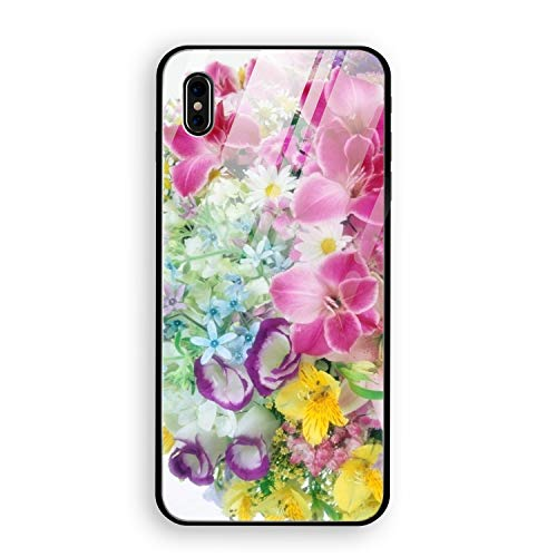 Lilies Roses Carnations Daisies Bouquets Stylish iPhone X Case Slim Fit Hard Tempered Glass iPhone X Cover 5.8