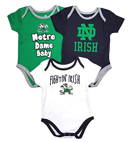 - Outerstuff NCAA Infant & Toddler Mom's Choice 3 Pack Creeper Set (18M, Notre Dame Fighting Irish)