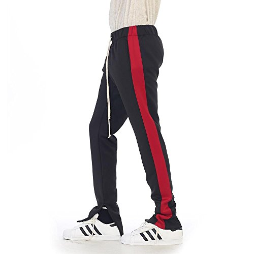 EPTM New Men's Techno Poly Zipper Long Drawstrings Pants (M/32, (New Mens Drawstring)