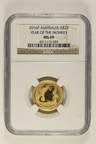 - 2016 P Lunar Series Year Of The Monkey $25 MS69 NGC