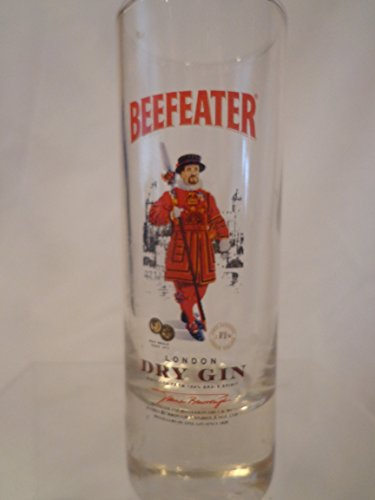 (BEEFEATER DRY GIN shot glass, DRY GIN Tall Shot Glass, Double Shot)
