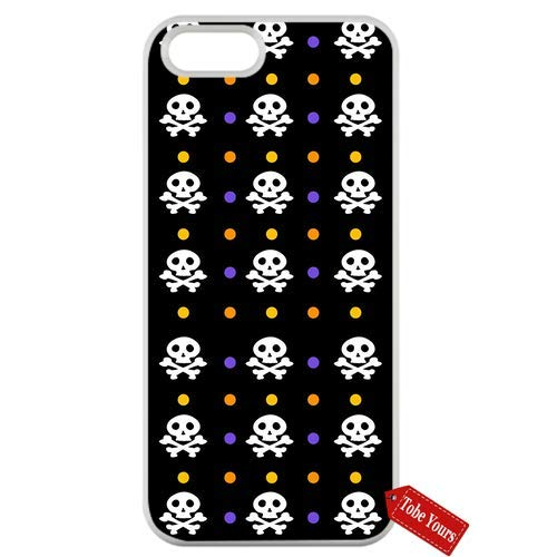Tobe Yours Inspired Quotes Phone Case Cute Skull Design - Halloween Patterns Bones Protective Anti-Scratch Apple iPhone Case White- iPhone 8 Plus]()
