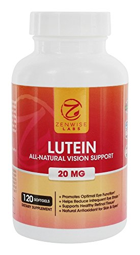 Zenwise Health Lutein All Natural Vision Support 20 mg 120 Softgels Discount