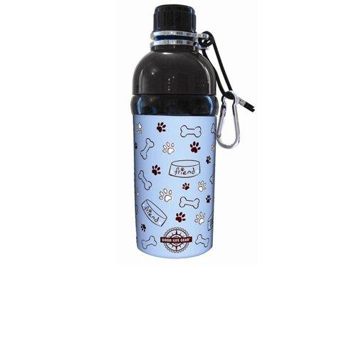 Good Life Gear Stainless Steel Pet Water Bottle, 16-Ounce, Blue Friends Design, My Pet Supplies