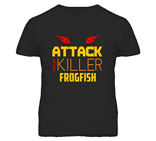 (Attack of The Killer Frogfish Animal T Shirt L Black)
