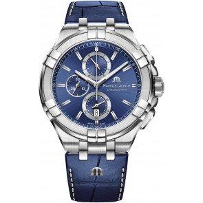 Maurice Lacroix Aikon Chrono Quartz Watch, Chronograph, 44mm, AI1018-SS00-430-1 - Maurice Lacroix Quartz