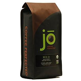WILD JO: 12 oz, Dark French Roast Organic Coffee, Ground Coffee, Bold Strong Rich Wicked Good Coffee! Great Brewed or Cold Brew, USDA Certified Fair Trade Organic Arabica Coffee, NON-GMO Gluten Free