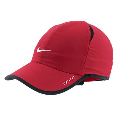 4c1a5486f Nike Adult Unisex Tennis Runner Featherlight DRI-FIT Hat Team Red ...