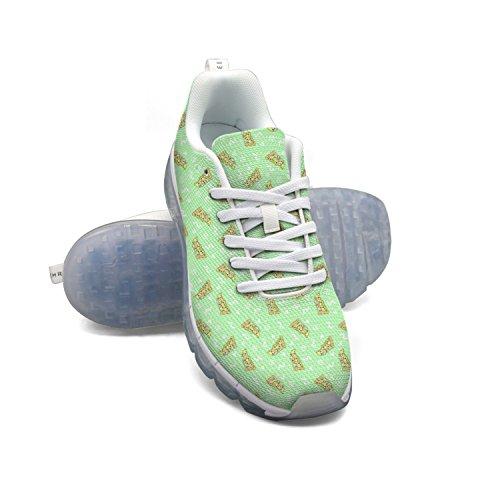 Faaerd Hipster Kawaii Pizza Katte Mænds Mode Letvægts Mesh Luft Pude Sneakers Tennissko kX0VcU9gD