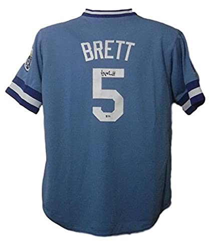2c273c50 Image Unavailable. Image not available for. Color: George Brett Autographed Kansas  City Royals Custom Size XL Blue Jersey BAS