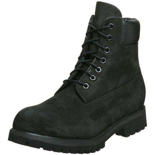 Timberland 6in Black, Stivali Uomo Nero (Black Nubuck)