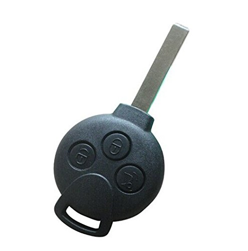 Keyecu Replacement Shell Smart Remote Key Case Fob 3 Button for Mercedes-benz Smart Fortwo No Logo