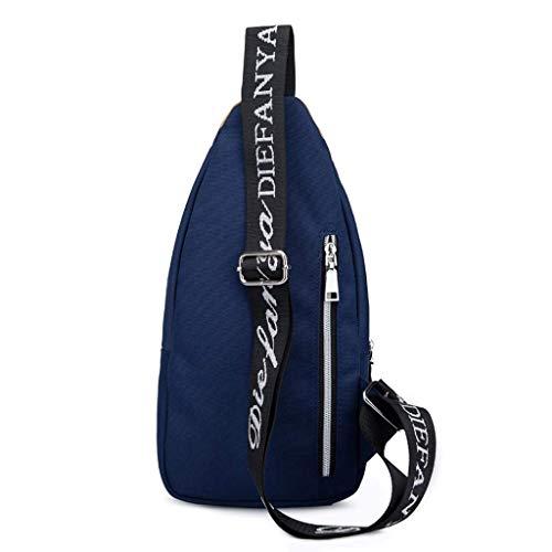 Tamaño Tela Masculino De Bolso Rxf color S Negro Azul Oxford Bandolera APSHq