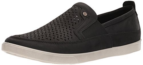 ECCO Men's Collin Perforated Slip On Sneaker, Black, 45 M EU (11-11.5 US) by ECCO