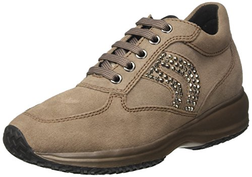 Sneakers Femme Beige Taupe Basses C Geox Happy OTCqff