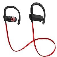 【進化版 耳掛け型 Bluetooth イヤホン】DANER ブルートゥース イヤホン スポーツ用 apt-X/AAC対応 HIFI高音質・ 低遅延 低音重視 軽量 完全 ワイヤレス イヤホン 8時間連続音楽再生 CVC6.0 ノイキャン マイク内蔵 IPX5完全防水 iPhone、Android各種対応 日本語説明書