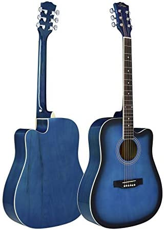 ACDOS Beginners Guitar 41 inch Folk Guitar The Whole Lime Light (Color : Blue Size : 41 inch) / ACDOS Beginners Guitar 41 inch Folk Guitar The Whole Lime Light (Color : Blue Size : 41 inch)