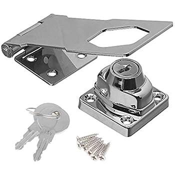 519aacab31722 Door Lock Clasp Buckle Vintage Door Lock Drawer Locker Cabinet Lock Door  Locker Home Lock Buckle from Hole