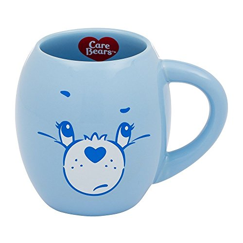 Care Bears Mug - Vandor Care Bears Grumpy Bear 18 Ounce Oval Ceramic Mug (29062)