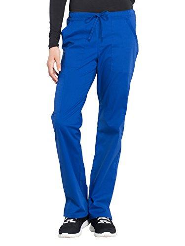 - Cherokee WW Professionals WW160 Mid Rise Straight Leg Drawstring Pant Galaxy Blue XS