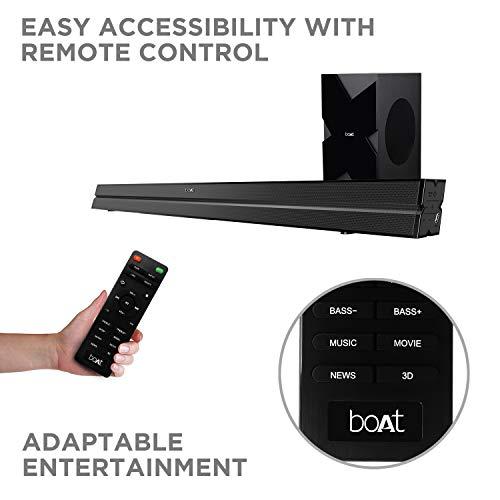 boAt AAVANTE Bar 1500 Wireless Bluetooth Soundbar Speaker with Subwoofer and HDMI ARC (Black)