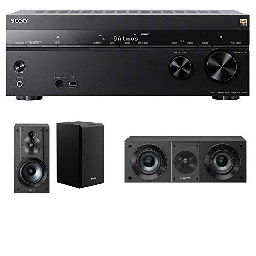 Sony 7.2 Dolby Atmos Wi-Fi Network AV Receiver Home Theater Receiver (STRDN1080) w/ Sony Speaker Bundle