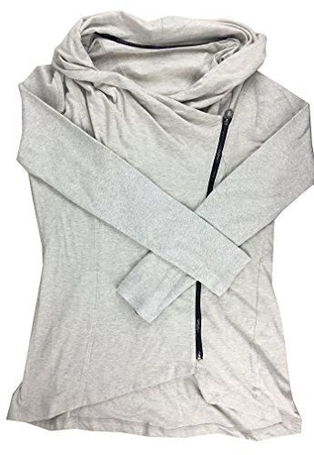 Calvin Klein Asymmetrical Zip-front Jacket Bone Heather Medium