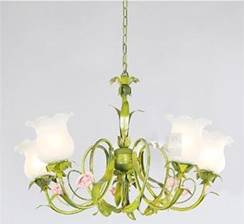 Reino Unido-estilo europeo para el jardín de flores candelabro de hierro forjado: Amazon.es: Iluminación