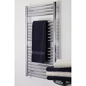 "Denby Towel Warmer Finish: Brushed Nickel, Size: 27"" H x 18"" W, Type: Hydronic"