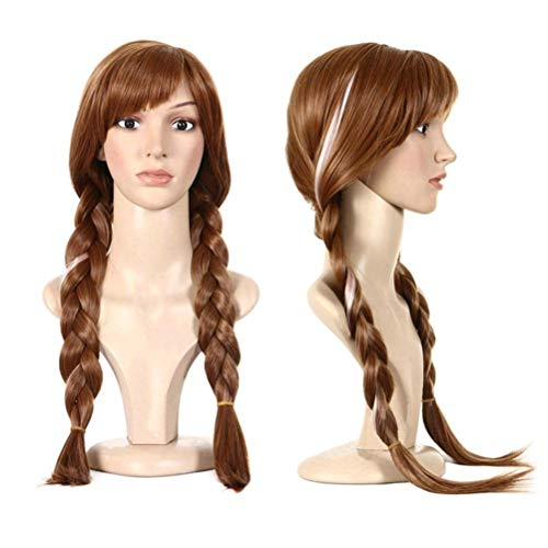 Cosplay Wig Frozen Doll elsa Anna Snow Princess Series Anime Blonde Hair Girl ()