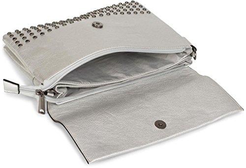 Pochette à femmes 02012227 main de sac Argent avec soirée couleur anse clous styleBREAKER sac bandoulière Or A4dqnzqx