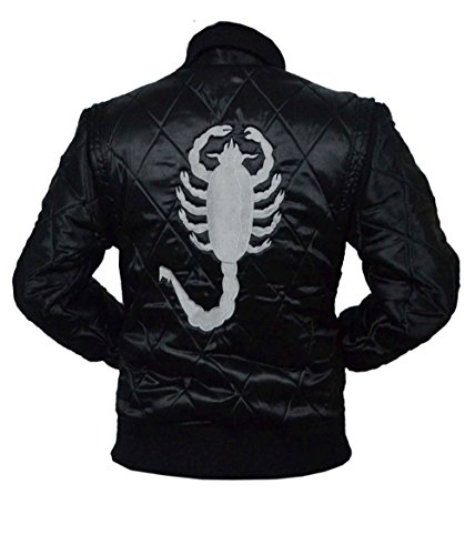 Jacket Drive BLACK Scorpion 5XL XXS Black White Satin Scorpion HLS Gosling wUTpxqwX