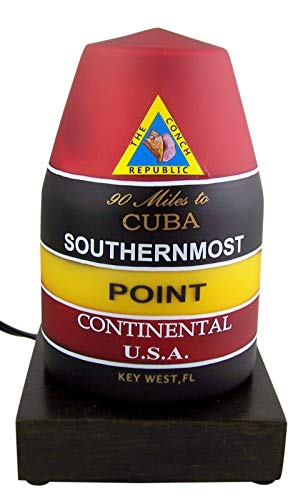 Southernmost Point Key West Buoy Landmark Lamp, 7 1/2 Inch (90 Miles To Cuba Key West Fl)
