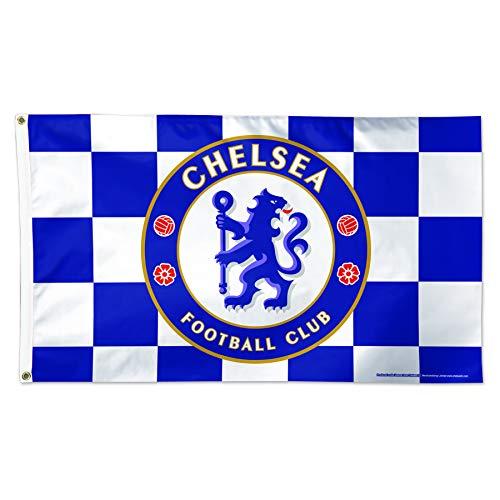 WinCraft Chelsea F.C. Flag 3'x5' - Chelsea F.C. Checkered Flag 3'x5' ()