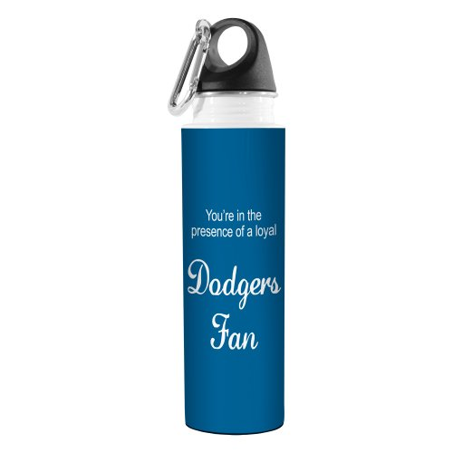 Tree-Free Greetings VB48091 Baseball Fan Artful Traveler Stainless Steel Water Bottle, 18-Ounce, Dodgers