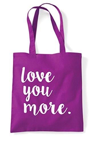 You Magenta Love Romantic Shopper Tote Statement More Bag Cute zUxwdOxq